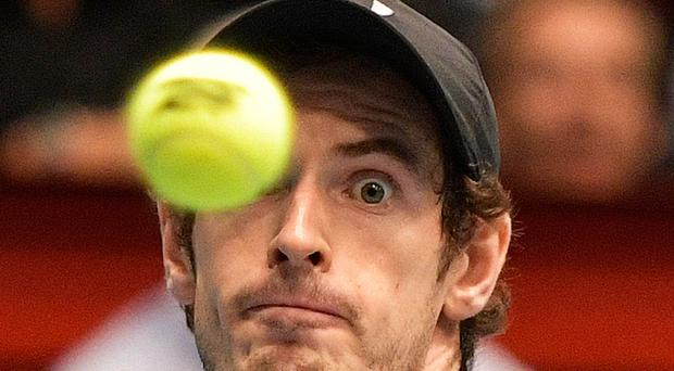 Scare: Andy Murray hit back after losing the second set in Vienna
