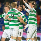 Net gains: Stuart Armstrong celebrates his goal