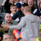 Sorry scenes: West Ham and Chelsea fans taunt each other