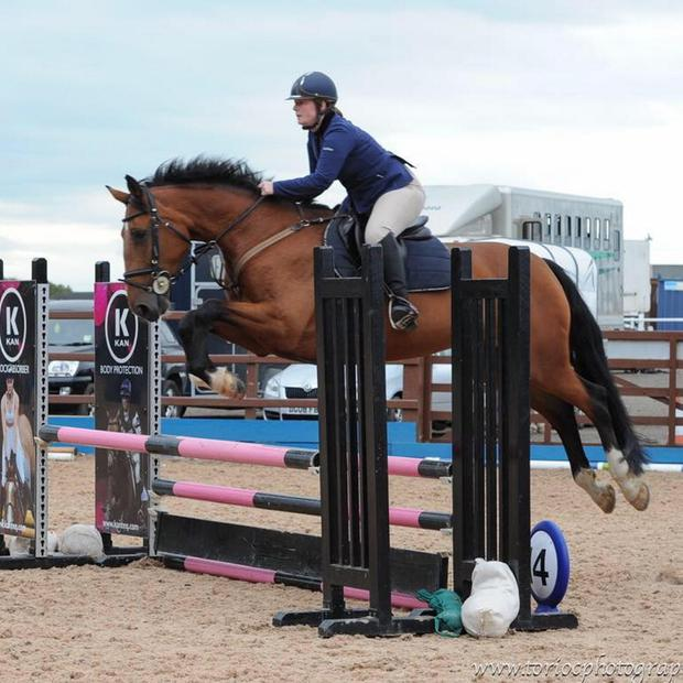Tragic death: Claire Lowe in competition