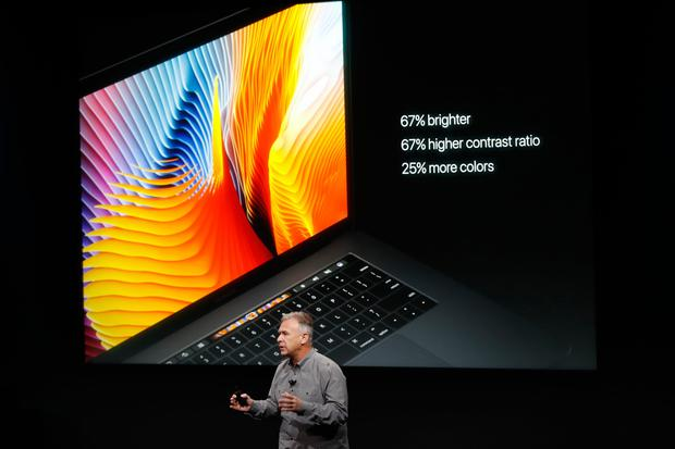 Apple Senior Vice President of Worldwide Marketing Phil Schiller introduces the all-new MacBook Pro during a product launch event on October 27, 2016 in Cupertino, California. Apple Inc. is expected to unveil the latest iterations of its MacBook line of laptops (Photo by Stephen Lam/Getty Images)