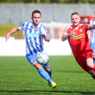 Focused: Neil McCafferty (left) is happy with Coleraine's form