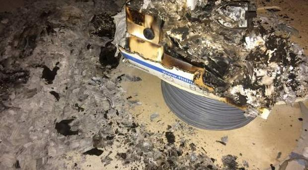 It is understood a fire was started in the room which houses all of the electric and heating controls for the new building but it failed to develop and damage was limited