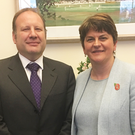 Graham Craig, who is now a DUP councillor, with party leader Arlene Foster