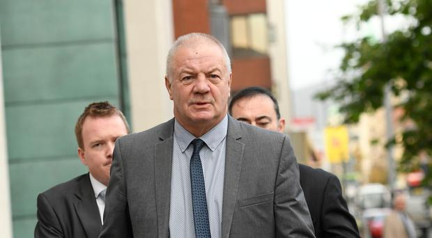 Raymond McCord arrives at Belfast High Court this morning. Photo Colm Lenaghan/Pacemaker Press