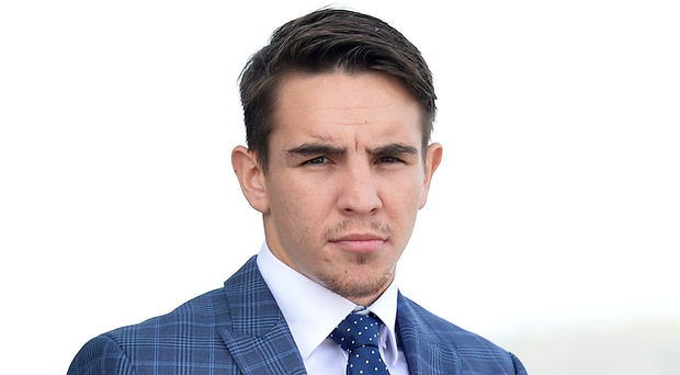Raring to go: Michael Conlan, pictured at his press conference at the Titanic building in Belfast, can't wait for his professional debut at Madison Square Garden on St Patrick's Day