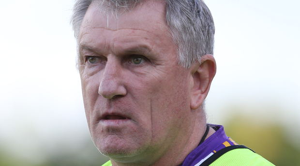 Preparation: Derrygonnelly manager Martin Greene has his team ready