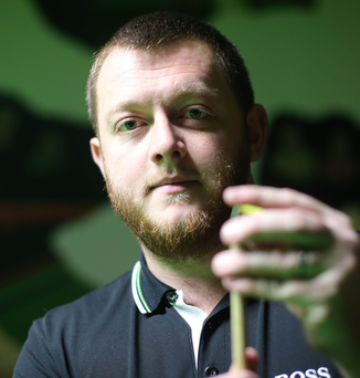 On cue: Northern Ireland's top snooker star Mark Allen at the 147 club in Antrim ahead of the new Northern Ireland Open world ranking event which will take place next month