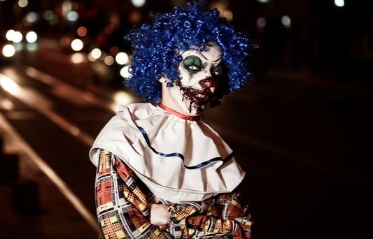 The creepy clown epidemic may be set to climax this Halloween, the NSPCC has warned. Image posed by model