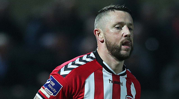 On target: Derry City ace Rory Patterson netted a brace