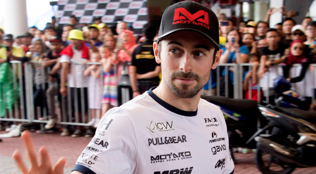 Eugene Laverty greets the fans at the MotoGP Of Malaysia