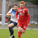 Banned man: Robert Garrett in action for the Ports on Saturday