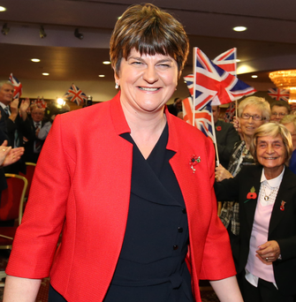 Arlene Foster after delivering her keynote speech