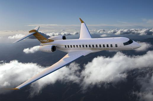 One of Bombardier's Global 7000 business jets which are part-made in Belfast