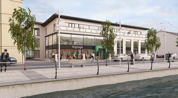 An artist's impression of the new development at Merchant Quay in Newry