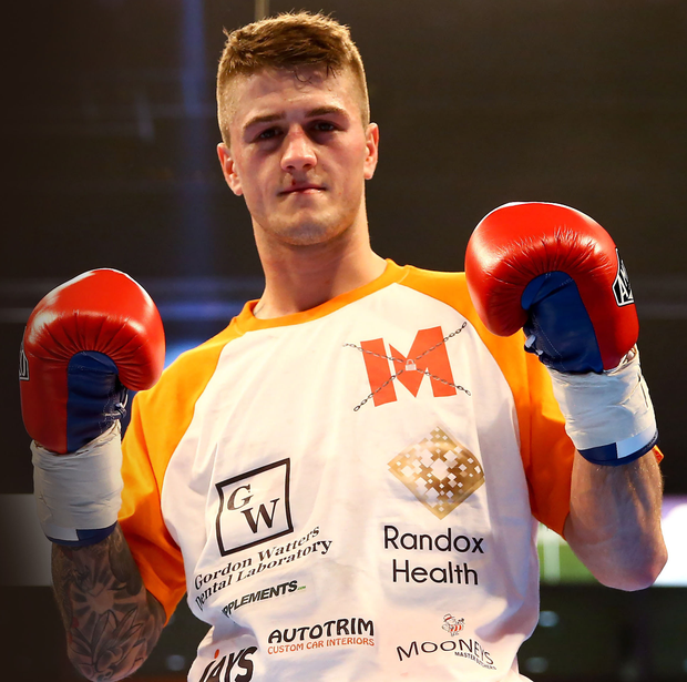 Hitting back: Marc McCullough is keen to leave his shock loss to Isaac Lowe in the past