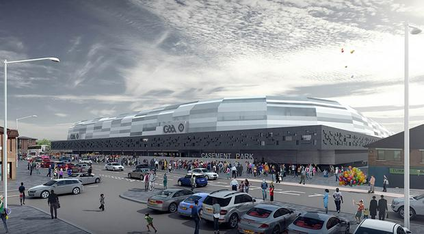 Artist's impression of proposed new Casement Park stadium