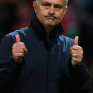 Thumbs up: Manchester United boss Jose Mourinho is now a fan of the Europa League