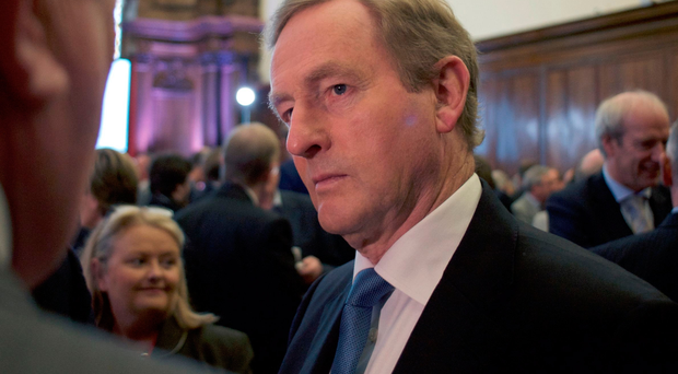 Taoiseach Enda Kenny speaks to delegates at yesterday's All-Island Civic Dialogue on Brexit