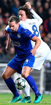 Test: Leicester's Danny Drinkwater battles with Thomas Delaney