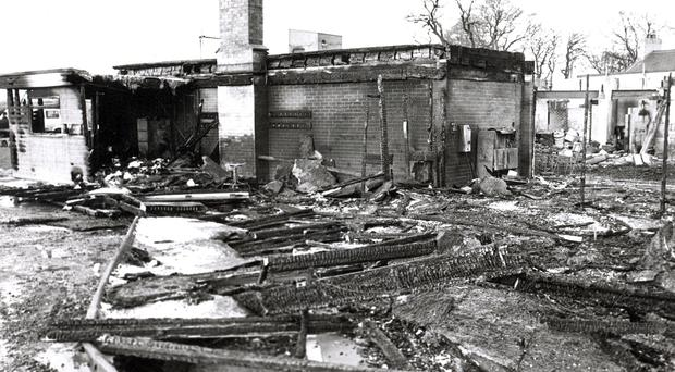 The devastation at La Mon following the deadly fire