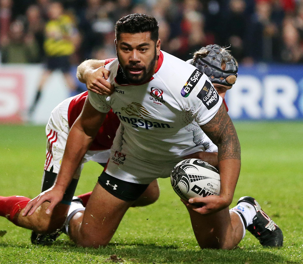 Big decision: Charles Piutau knew joining Ulster would mean he wouldn't be selected by New Zealand, but he insists he has no regrets