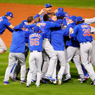 The Chigago Cubs celebrate their first World Series in 108 years