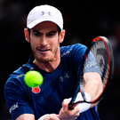 Powering on: Andy Murray dropped just three games yesterday