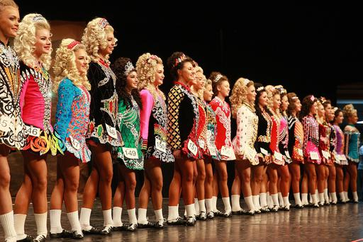 Irish Dancer take part in day three of the All Ireland Dance Championships at the Waterfront Hall in Belfast. Pic Colm Lenaghan/Pacemaker
