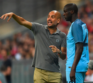 Olive branch: Pep Guardiola may offer Yaya Toure a comeback