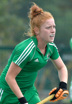 Take that: Zoe Wilson netted twice in Randalstown's triumph over Queen's