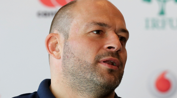Rory Best during the Ireland Rugby press conference, at the Trump Conference Centre, Chicago, yesterday