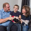 Rita and Jon Orr with their son Callum, who is severely autistic and rarely sleeps at night