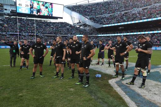 Hard to take: New Zealand players come to terms with the shock defeat