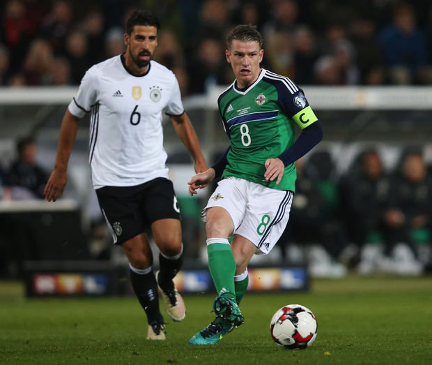 Big game player: Steven Davis is leading the charge for Northern Ireland