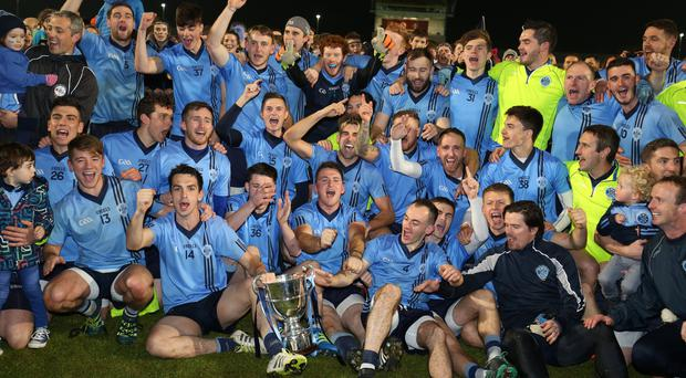 Prize guys: Killyclogher celebrate winning the Tyrone crown and now dream of Ulster glory
