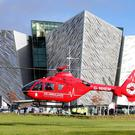 One of the two helicopters which will deliver Northern Ireland's first ever Helicopter Emergency Medical Service (HEMS) is in Northern Ireland for a three-day flying visit. Picture by Jonathan Porter/Press Eye