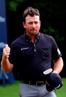 Get in: Graeme McDowell after winning the OHL Classic