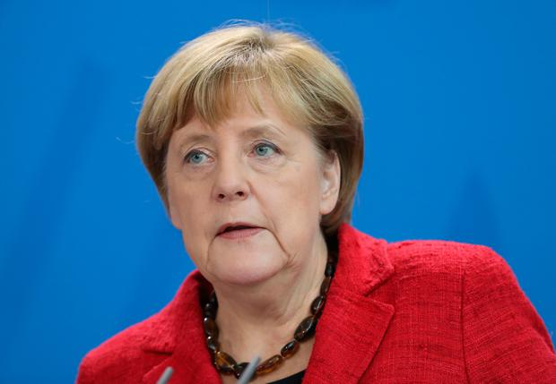 BERLIN, GERMANY - NOVEMBER 09: German Chancellor Angela Merkel gives a statement to the media following the victory by U.S. Republican candidate Donald Trump in U.S. presidential elections on November 9, 2016 in Berlin, Germany. Merkel reiterated the global responsibility that comes with the role of a U.S. president and offered to work with Trump on a basis of traditional, liberal democratic values. (Photo by Sean Gallup/Getty Images)