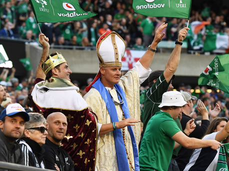 Green machine: The great and the good all came to watch the All Blacks humbled