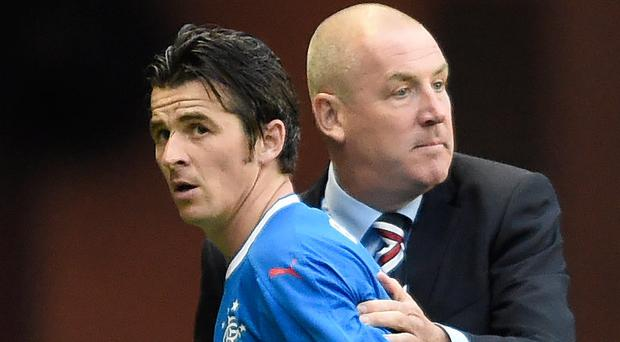 Bust-up: Joey Barton and Rangers boss Mark Warburton