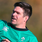 Billy Holland training with the Irish squad
