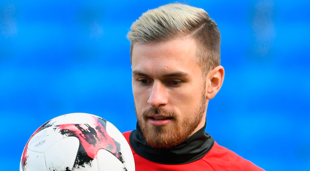 Welsh wizard: Aaron Ramsey at Wales training yesterday