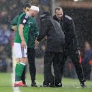 Wounded warrior: Chris Brunt was able to play on with a head injury