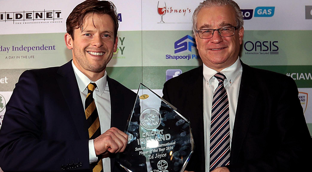 Hat-trick: Ed Joyce has been named the International Player of the Year