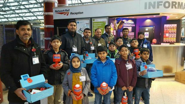 Muslims from across the UK have been collecting for the Poppy Appeal