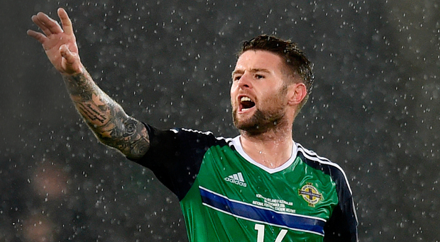 Strong hand: Oliver Norwood says Northern Ireland are in an excellent position