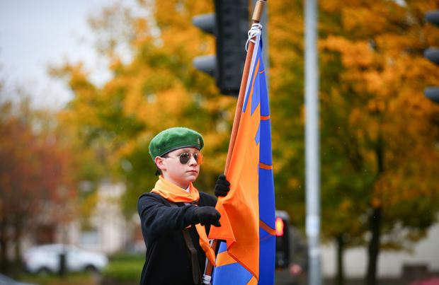 Kevin Scott / Presseye 25th Anniversary Commemoration parade for IRA member Patricia Black takes place through Lenadoon on November 13th 2016 in Belfast , Northern Ireland. (Photo by Kevin Scott / Presseye)