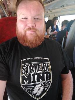Mick Finnegan, 33, founded State of Mind Rugby Union in 2013.