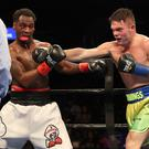 Title tilt: Conrad Cummings on his way to victory in New York now has an inter-continental title shot at Wembley's SSE Arena on Friday